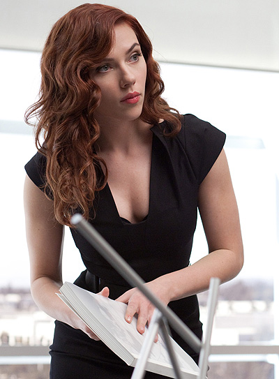 Scarlett as the Black Widow