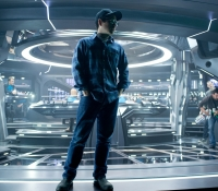 J.J. Abrams on the bridge of the U.S.S. Enterprise