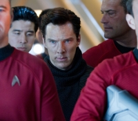 Red shirts guard John Harrison (Benedict Cumberbatch)