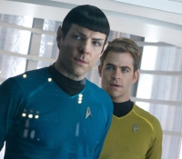 Spock (Zachary Quinto) and Kirk (Chris Pine)
