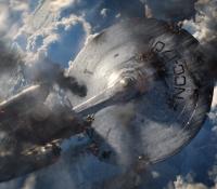 U.S.S. Enterprise on fire