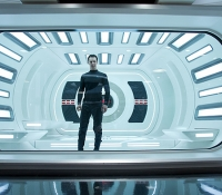 John Harrison (Benedict Cumberbatch) alone in the brig
