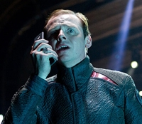 Scotty (Simon Pegg) looks for some help