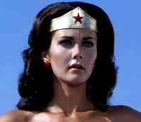 Lynda Carter famously played Wonder Woman in the campy 1970s series. Compared to the David E. Kelley version, that outfit - while heavy on the bust and light on the fabric - was far more silly.