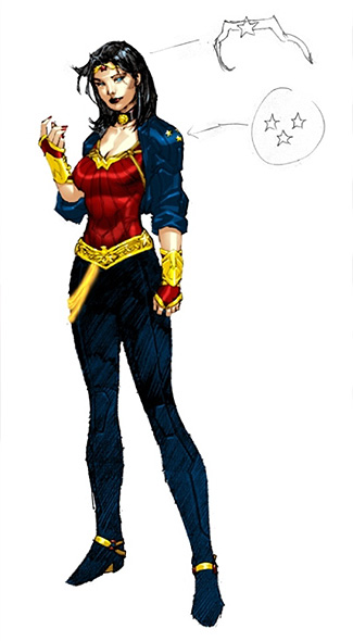 In a lot of ways it's similar to the super hero's new costume design unveiled recently in the comic books. But while that version got bashed, too, it's better than what the TV show seems to be going for. In fact, I would say the outfit is better suited for TV. Not sure why they didn't just use it.