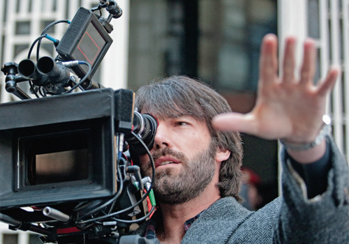 Ben Affleck behind the camera on the set of 'Argo'