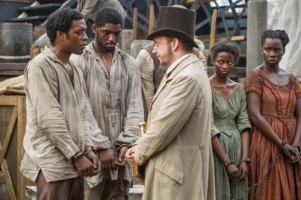 Chiwetel Ejiofor and Paul Giamatti in '12 Years A Slave'