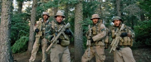 Mark Wahlberg, Emilie Hirsch, Taylor Kitsch and Ben Foster in 'Lone Survivor'