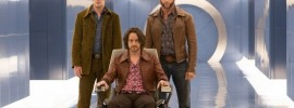 Michael Fassbender, James McAvoy and Hugh Jackman in 'X-Men:  Days of Future Past